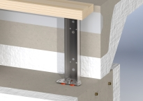 Foundation window frame mounting