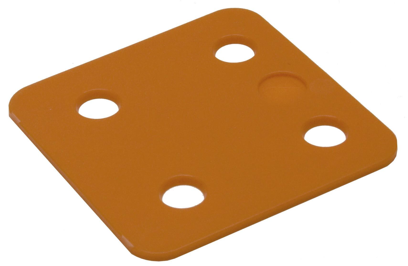 Drukplaat zonder sleuf oranje 2 70x70 KS