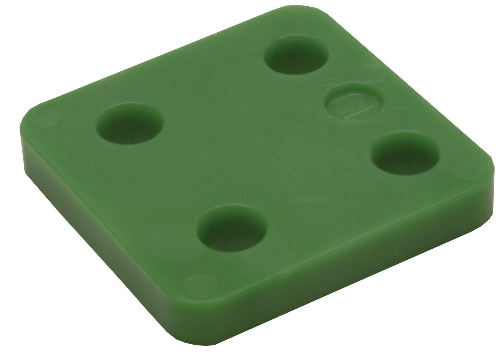 Drukplaat zonder sleuf groen 10 70x70 KS