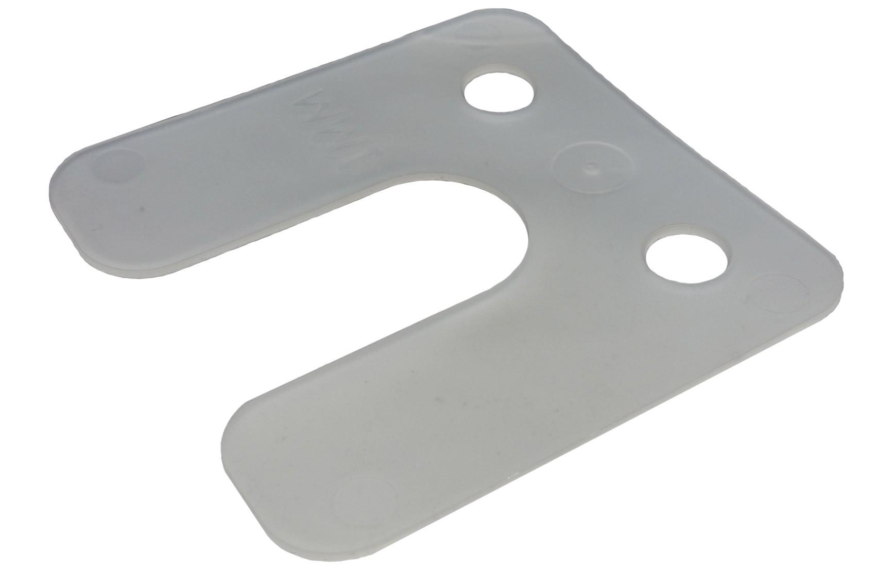 Drukplaat met sleuf  transparant 1 70x70 KS