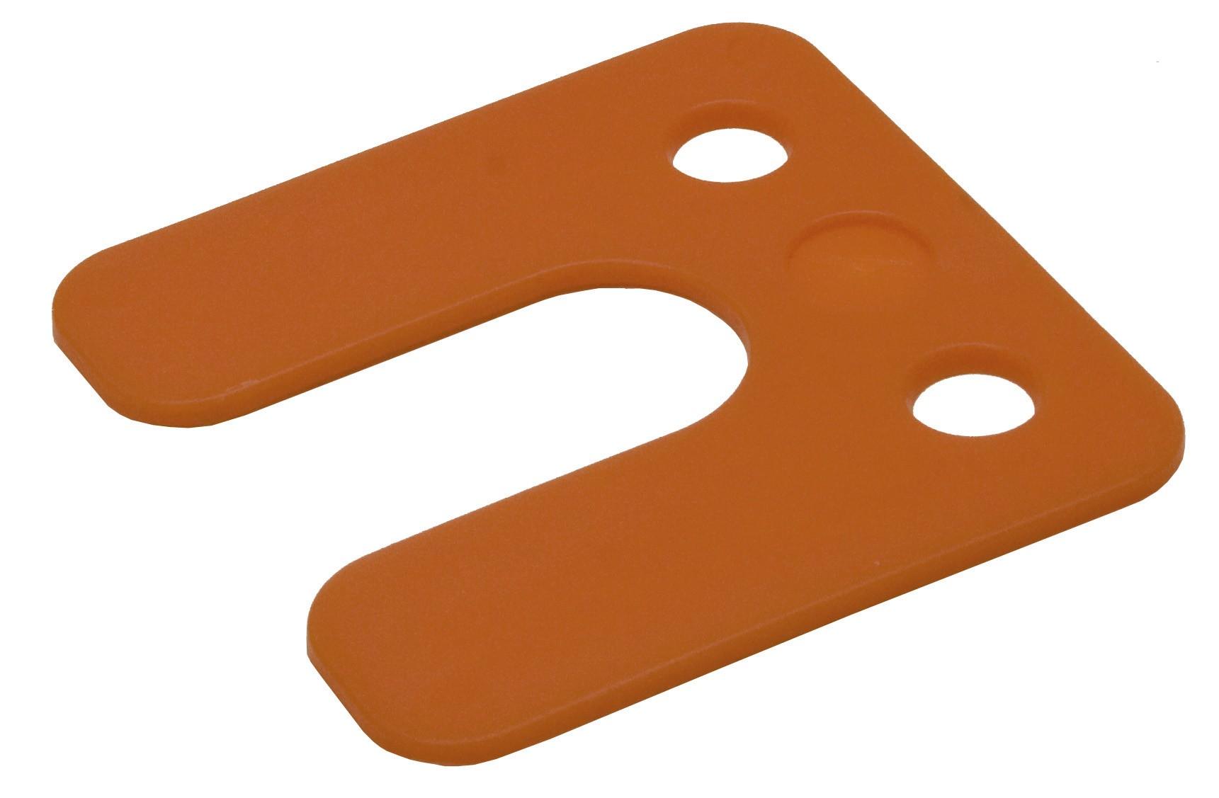 Drukplaat met sleuf oranje 2 70x70 KS