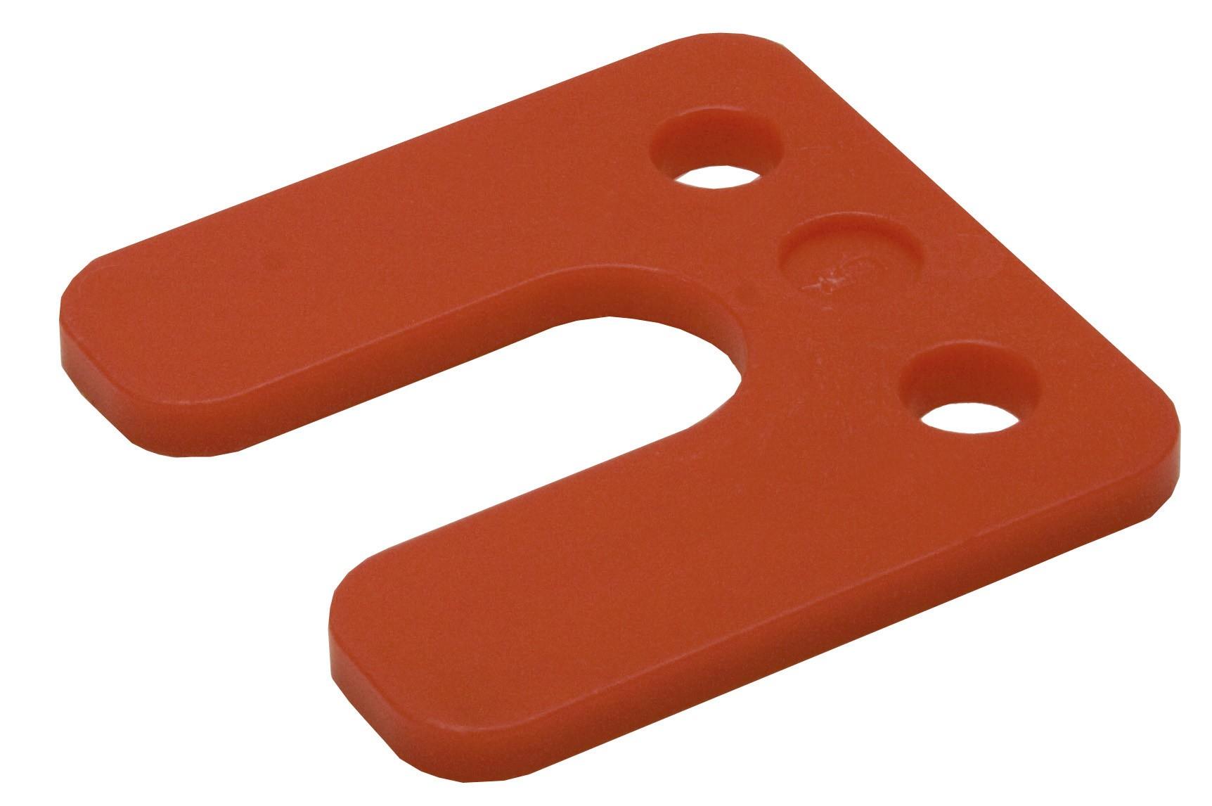 Drukplaat met sleuf rood 5 70x70 KS
