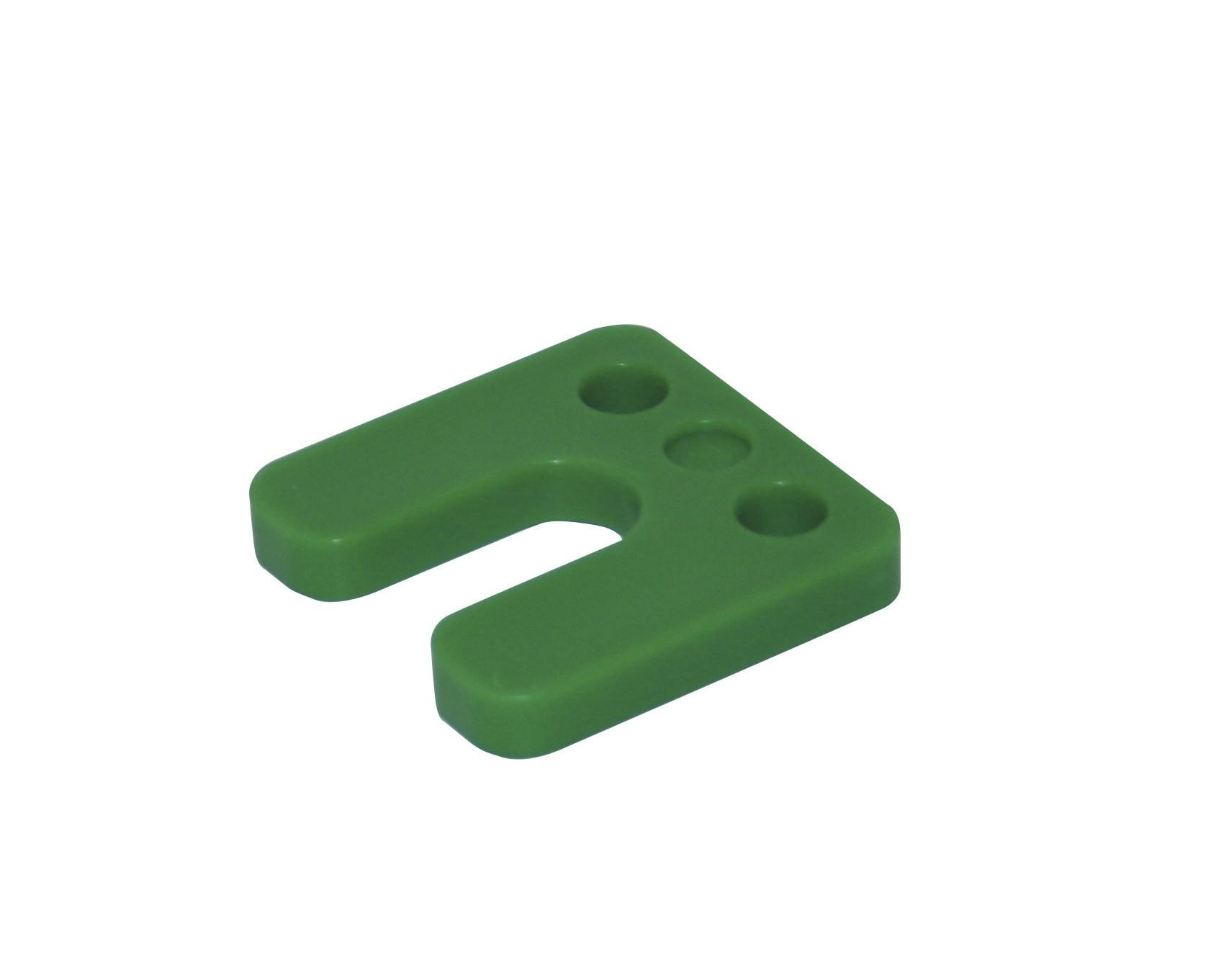 Drukplaat met sleuf groen 10 70x70 KS
