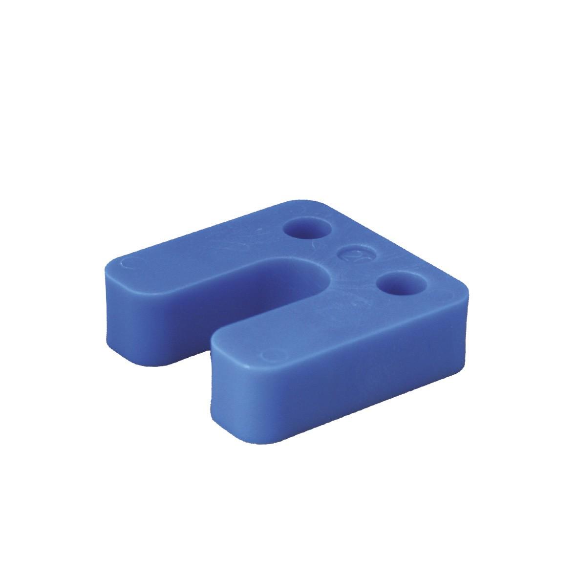Drukplaat met sleuf blauw 20 70x70 KS