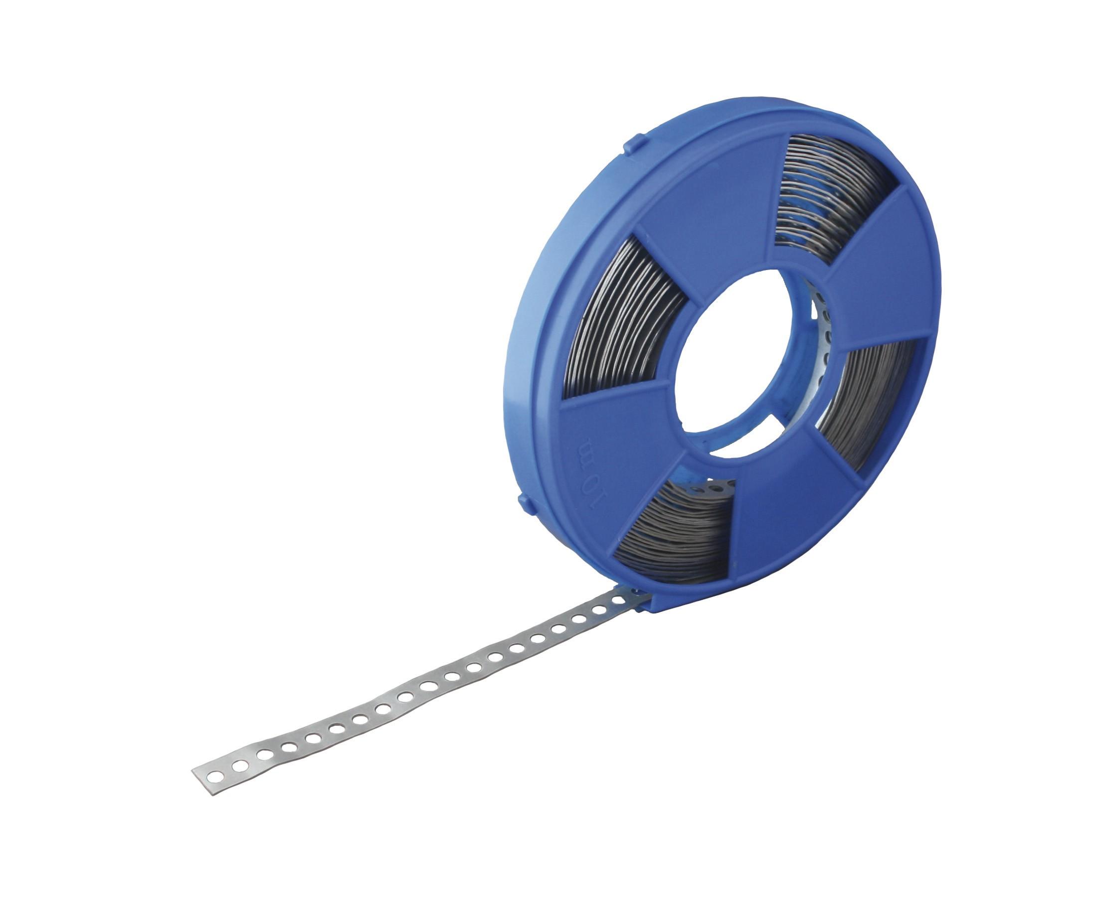 Montageband blauwe cassette - vlak 10 mtr 12x0,8 SV
