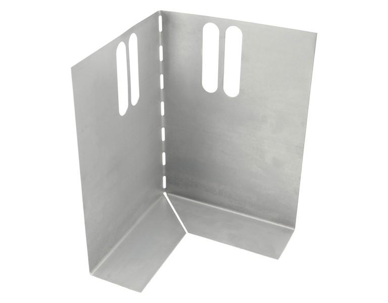 Hoekstuk t.b.v. metalen randkist 150x300 SV