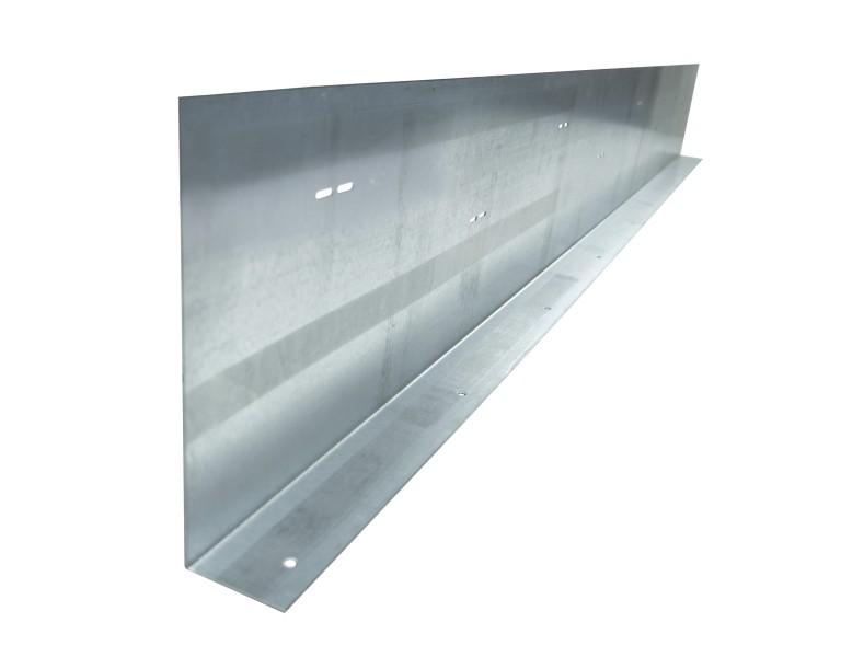 Metalen randkist 90° 380x2000 1,5 SV