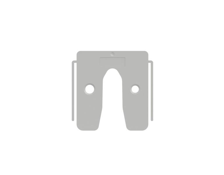 Uitvulplaatje transparant met stelpootjes 1 50x50 KS