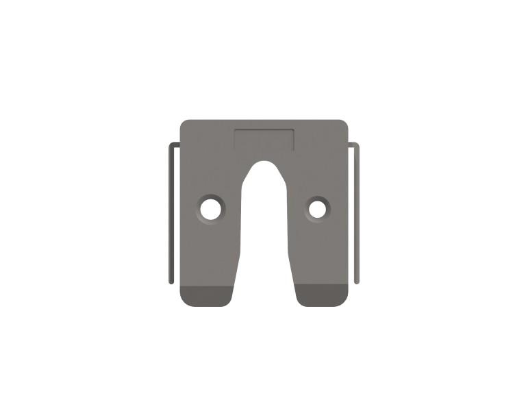 Uitvulplaatje grijs met stelpootjes 7 50x50 KS