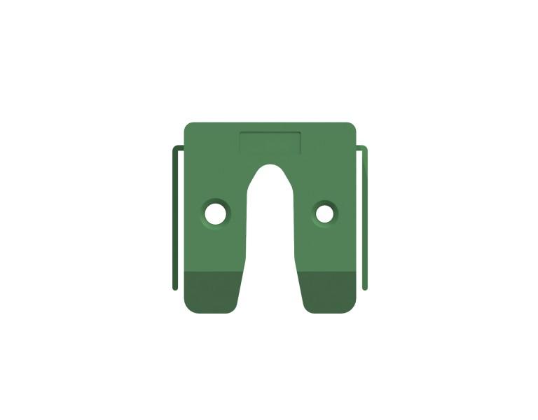 Uitvulplaatje groen met stelpootjes 10 50x50 KS