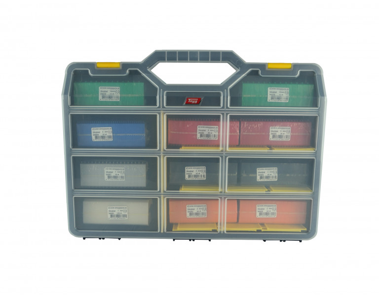 Assortimentskoffer uitvulplaatjes met stelpootjes 50x50 KS