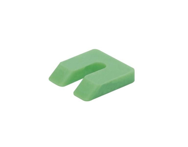 Uitvulplaatje groen  zak 10 50x50 KS