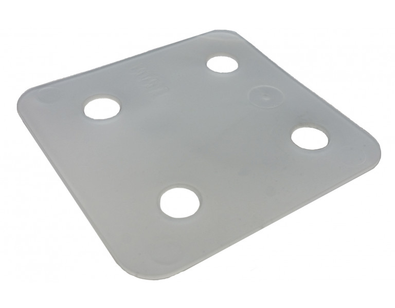 Drukplaat zonder sleuf  transparant 1 70x70 KS