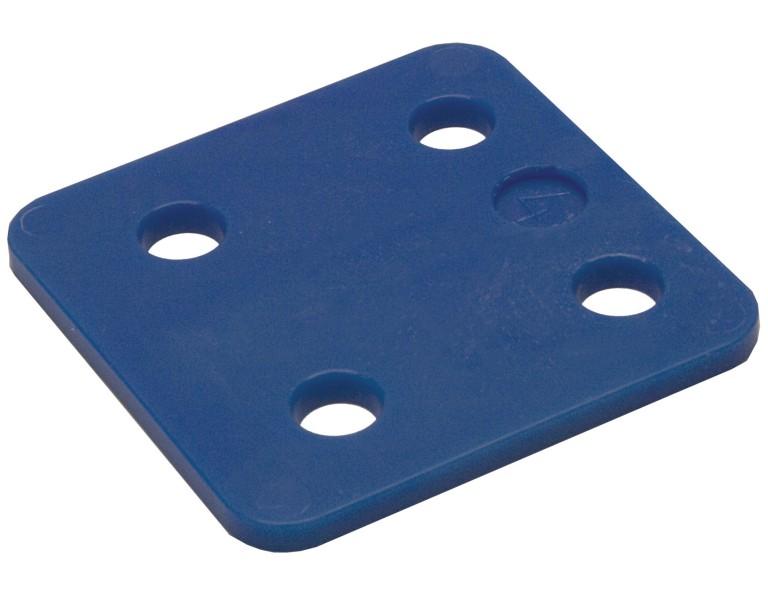 Drukplaat zonder sleuf blauw 4 70x70 KS