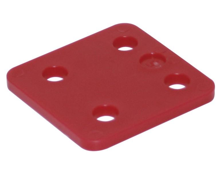 Drukplaat zonder sleuf rood 5 70x70 KS