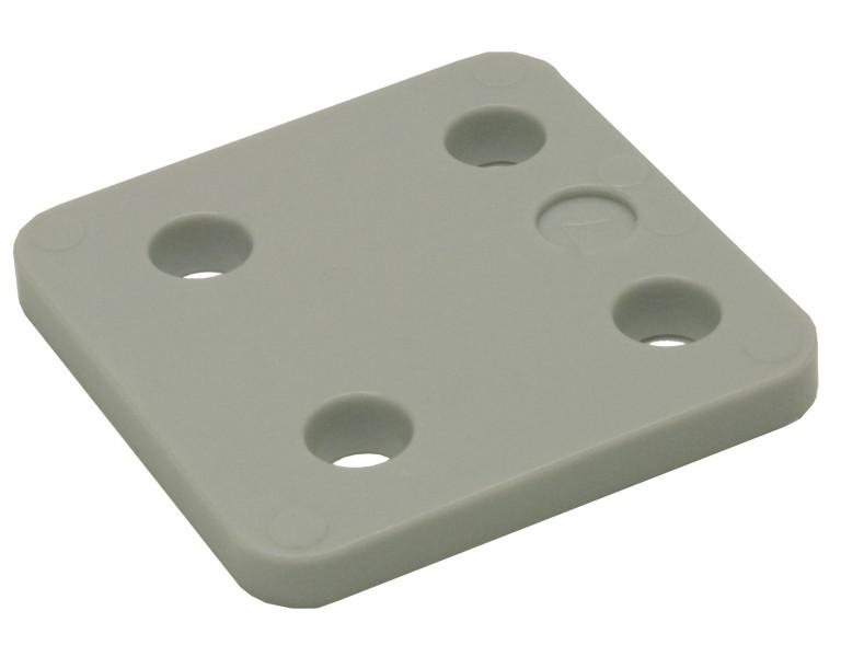Drukplaat zonder sleuf grijs 7 70x70 KS