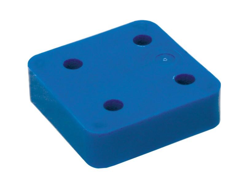 Drukplaat zonder sleuf blauw 20 70x70 KS