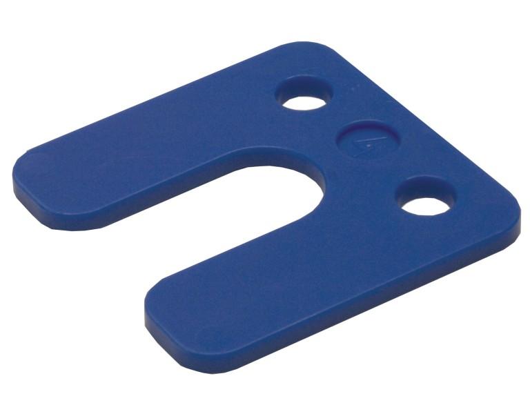 Drukplaat met sleuf blauw 4 70x70 KS
