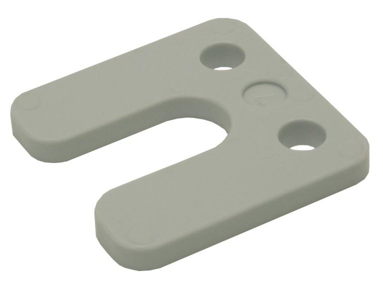 Drukplaat met sleuf grijs 7 70x70 KS