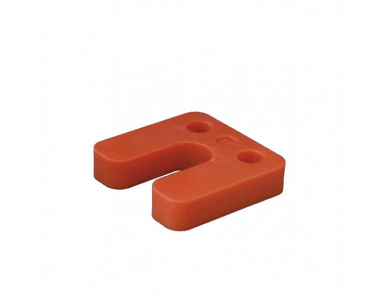 Drukplaat met sleuf oranje 15 70x70 KS
