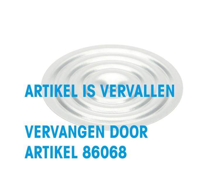Dakplaatje zonder gat Ø70 0,6 SV