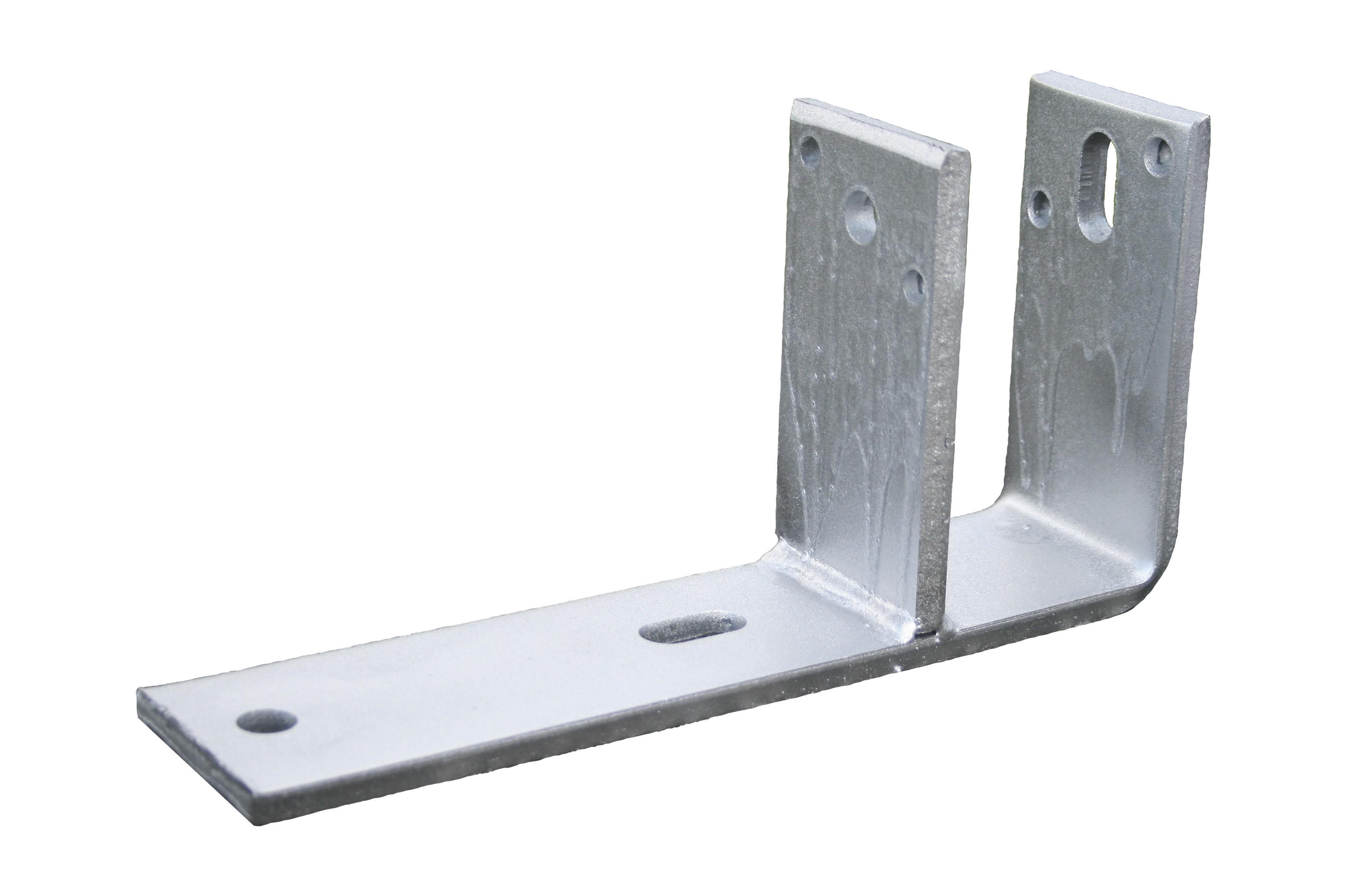 Pied de poutre F pour stère 71 mm 140x280 70x10 EV