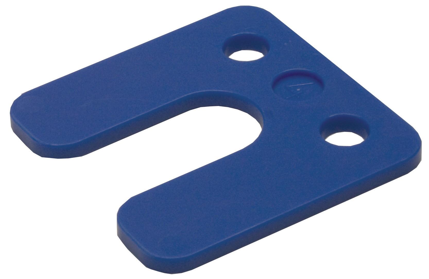 Plaques de pression avec rainure bleus 4 70x70 KS
