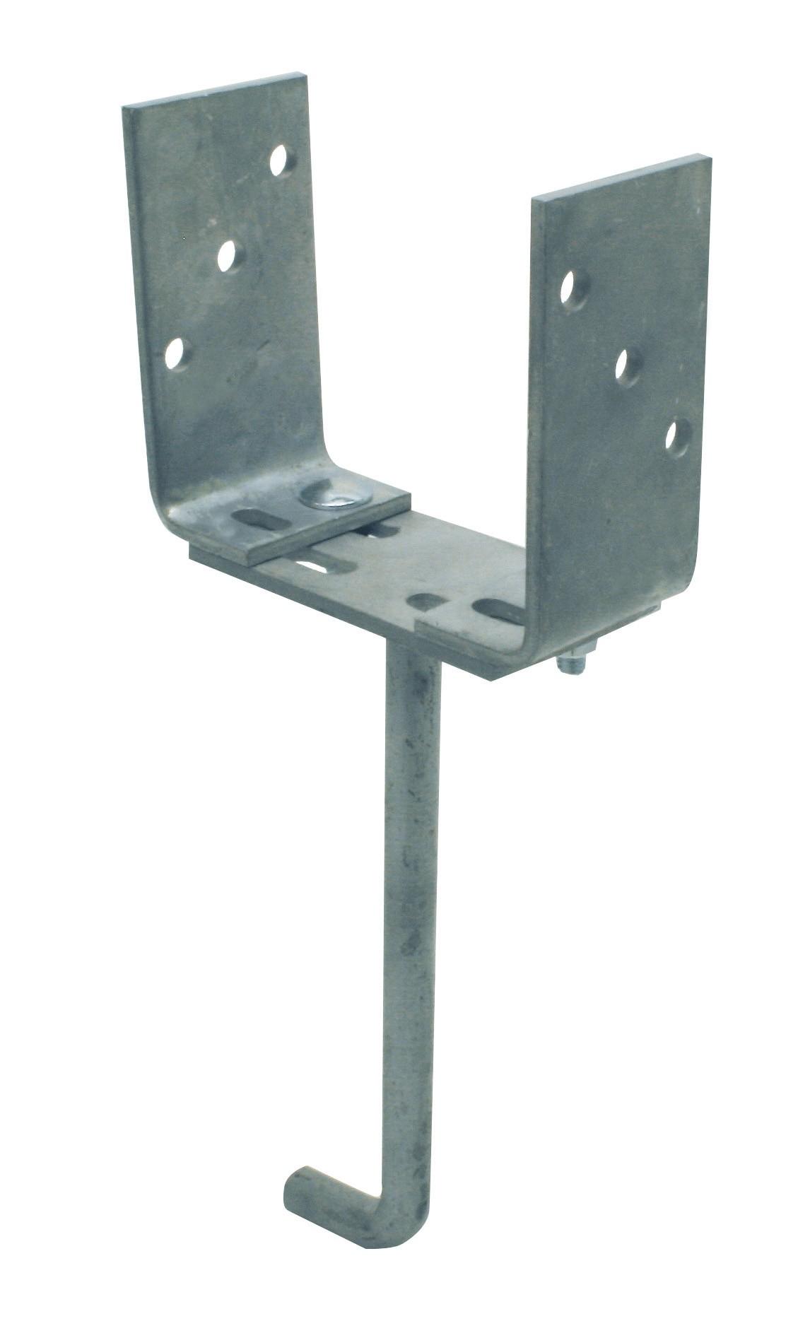 Pied de poteau à sceller non-assemblé (avec accessoires) 210x50 140x60 60x5 TV