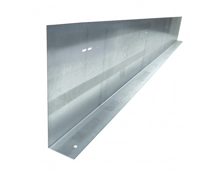 Metalen randkist 90° 350x2000 1,5 SV