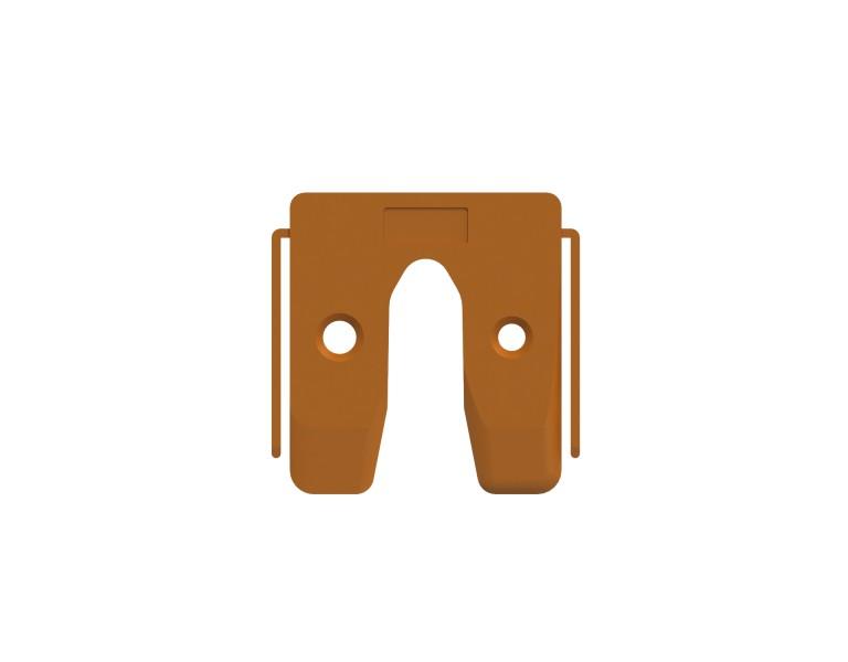Plaques de calage orange 2 50x50 KS