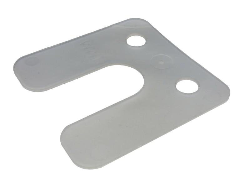 Plaques de pression avec rainure transparent 1 70x70 KS