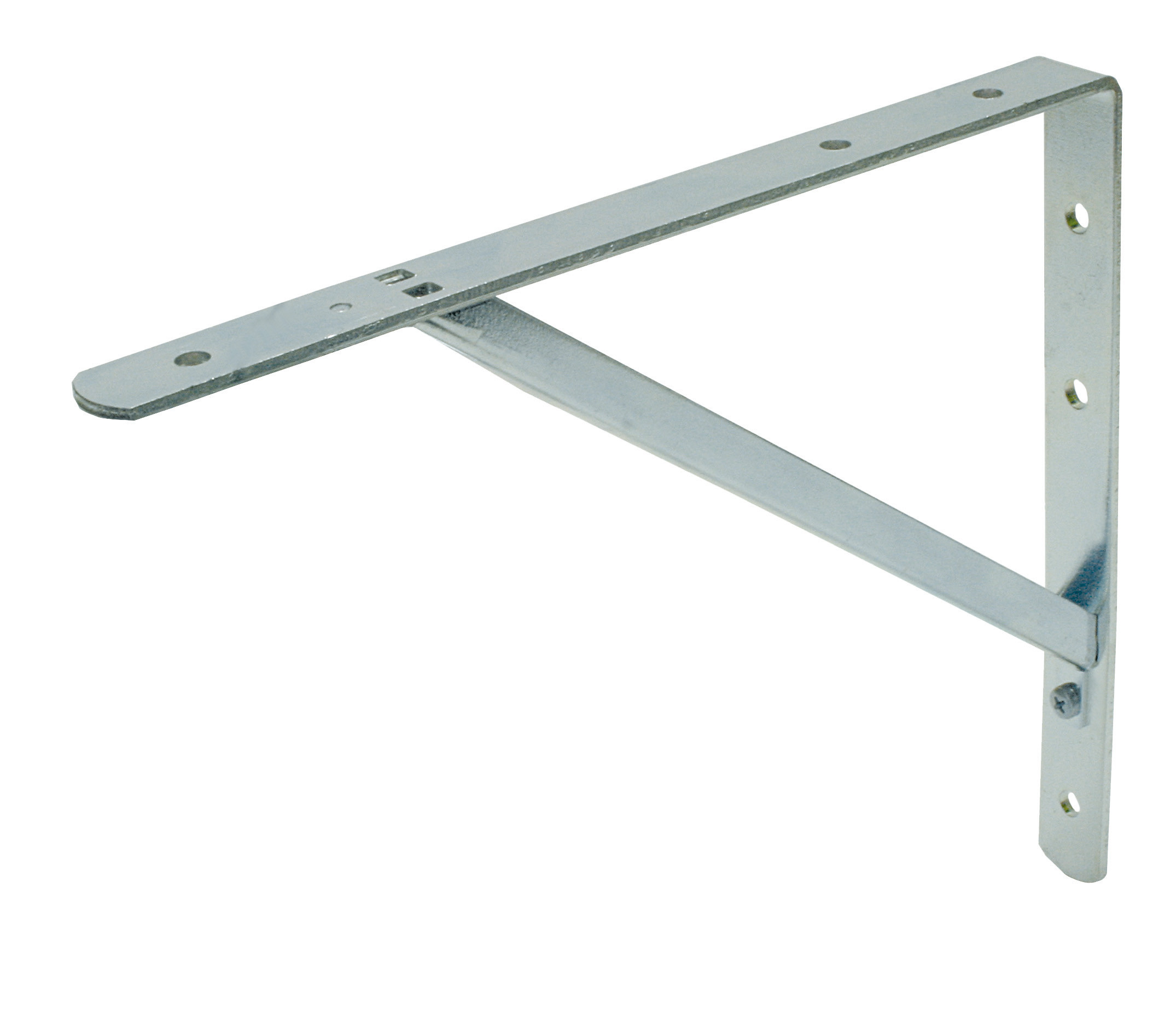 Shelf bracket white disconnectable 250x300 25x5/15x15x2 EV
