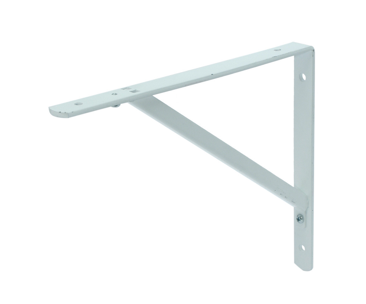 Shelf bracket white disconnectable 400x500 25x5/15x15x2 EPW