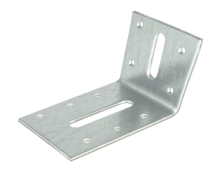 Angle bracket 100° 55x85 60x2,5 S350 ZM