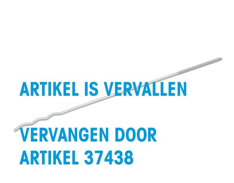 UNI-screw-in wall tie with wood grain 250 Ø4 HT 4,6x56 304