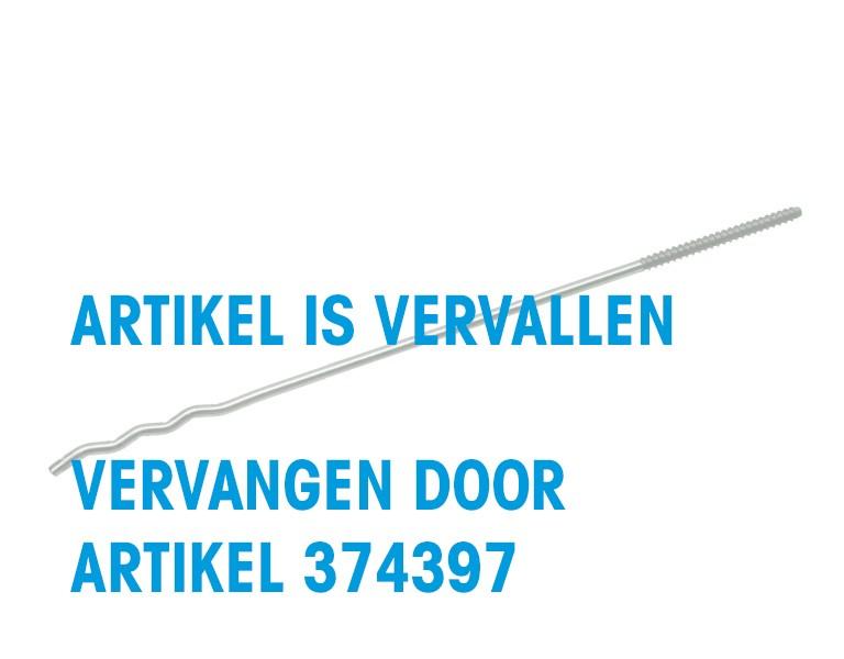 UNI-screw-in wall tie with wood grain 375 Ø4 HT 4,6x56 304