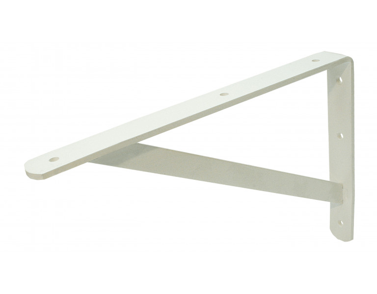 Shelf bracket white 250x400 30x4/20x4 EPW